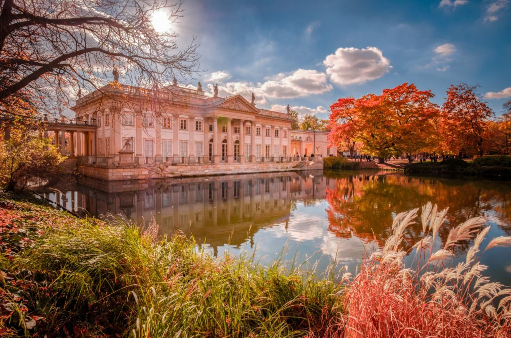 Palazzo sull`Acqua del Parco dei Bagni Reali Lazienki