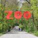 l`ingresso allo zoo di Varsavia, viale principale.